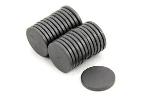 FERRITE DISC MAGNETS D25 x 3mm SET/100pcs